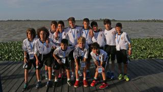 Los jugadores del Real Madrid, durante la visita a la ciudad colombiana