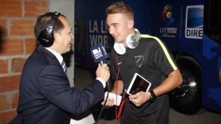 Los medios se volcaron con la llegada del Málaga CF a Colombia