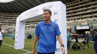 Javi Gracia probó con sus jugadores en el primer partido de LaLiga World del Málaga en Sudamérica
