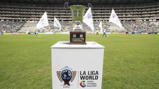 Así lucía la Copa Euroamericana antes del inicio del choque de Laliga World