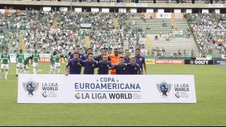 Once inicial del Málaga CF ente Deportivo Cali