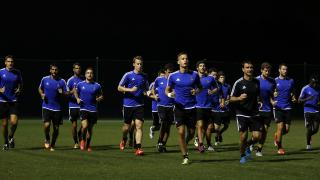 Los jugadores de la Real Sociedad completaron la sesión de entrenamiento.