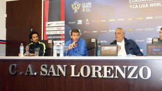 Javi Gracia y Marcos Angeleri presidieron la rueda de prensa previa al choque