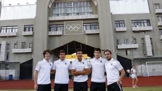 Los jugadores de la Real Sociedad se fotografiaron en la previa del encuentro de la Gira LFP World Challenge