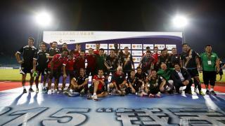 El Rayo celebrando la victoria contra la Real Sociedad en la Gira LFP World Challenge.
