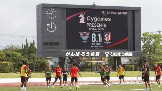 LFP World Challenge Julio-Agosto 2015 - Atlético - Japón - Varios. Segundo Entrenamiento del Atletico de Madrid en Saga.