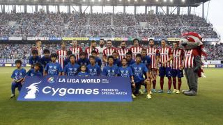El once inicial del Atlético