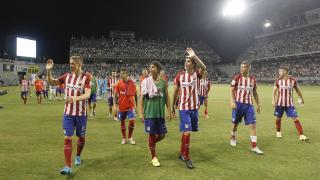 Vuelta de honor del Atlético para saludar a los fans de Japón.