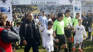 El mítico Estadio Centenario acogió el último choque de la Gira LFP World Challenge del Málaga