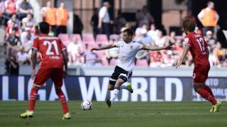 Javi Fuego anotó el primer gol del partido
