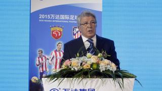 El presidente del Atlético de Madrid, en el Spain Experience