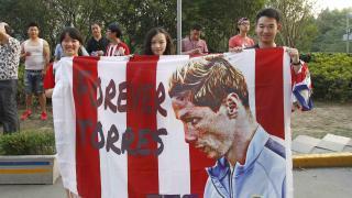 Los aficionados chinos también demostraron su admiración por Fernando Torres.