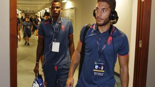 Rubén Rochina, a su llegada al estadio