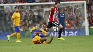 Javier Eraso volvió a jugar como titular en la mediapunta del Athletic