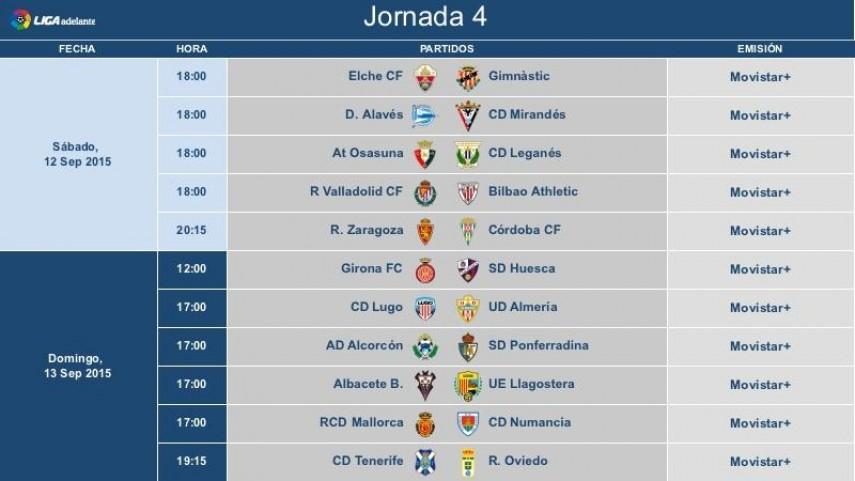 Horarios de la jornada 4 de la Liga Adelante | Liga de ...