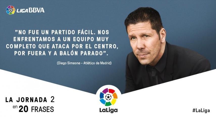 La Jornada 2 De La Liga Bbva En 20 Frases Liga De Fútbol