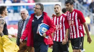 Jordi Guerrero comanda el banquillo del Girona FC.