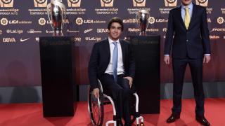 Daniel Caverzaschi tampoco quiso perderse la Gala de los Premios LaLiga