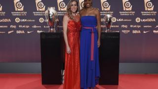 Marta Fernández y Cindy Lima en la alfombra roja de la Gala.