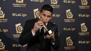 James Rodríguez (Real Madrid), 'Mejor Centrocampista de la Liga BBVA 2014/15'