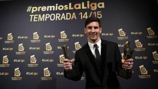 Lionel Messi hizo doblete: 'Mejor Delantero' y 'Mejor Jugador' de la temporada 2014/15