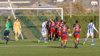 Real Sociedad Femenina - FC Barcelona .