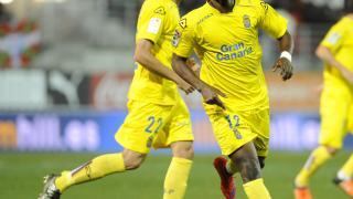 Wakaso celebra el gol que significó el empate de la UD Las Palmas.