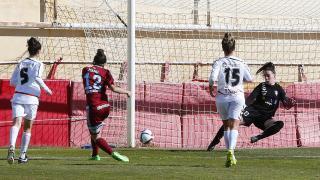 Manu Lareo, de la Real Sociedad, firmó un hat-trick ante el F. Albacete, en la Primera División Femenina.