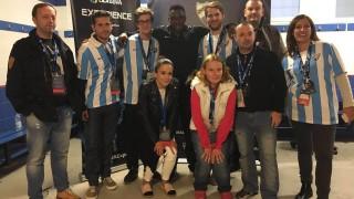 Los seguidores de la Liga BBVA Experience de Jornadia, Alemania, Austria y Hungría pudieron conocer en persona al portero del Málaga Carlos Kameni