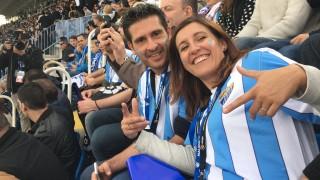 Varios fans de Jordania, Alemania, Austria y Hungría fueron los encargados de inaugurar la Liga BBVA Experience en el Málaga CF - Real Madrid