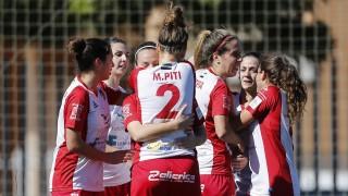 La alegría del Santa Teresa CD en su victoria ante el VCF Femenino.