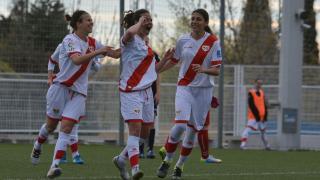Ale Rosillo celebra su tanto en el Rayo - T.Alcaine ZGZ. Primera División Femenina