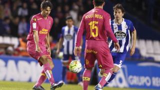 Juan Carlos Valerón en su regreso al estadio de Riazor con la UD Las Palmas