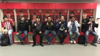 Los fans de LaLiga de Argentina, Uruguay, Perú, Ecuador, Chile, Colombia, Venezuela y México pudieron conocer los entresijos del vestuario del Vicente Calderón antes del Atlético Madrid - Granada CF