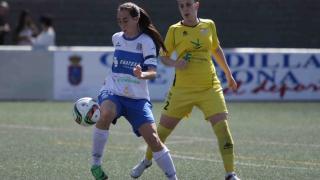 Una acción del partido disputado entre el Granadilla Egatesa y el Santa Teresa CD.