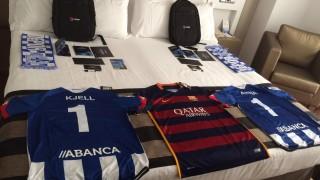 Todos los afortunados aficionados que viajaron a España gracias a la Liga BBVA Experience recibieron un pack de bienvenida con muchos regalos