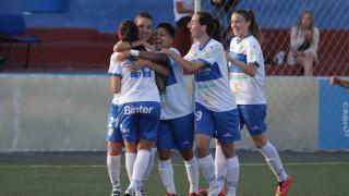 Wendy Acosta marca su primer gol con el Granadilla.