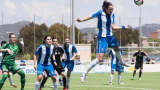 Un lance del partido entre el Espanyol y el T. Alcaine ZGZ.