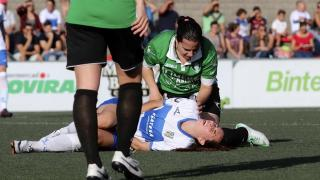 Un momento del partido disputado entre el Granadilla Egatesa y el Oviedo Moderno.