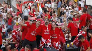 El Sevilla FC celebró la consecución de su quinta Europa League.