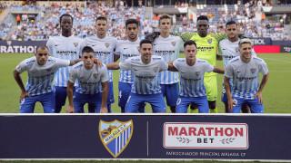 La primera alineación del Málaga CF.