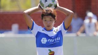 Ayano Dozono, durante un lance del partido.