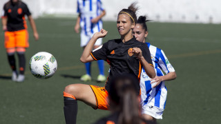 Marianela durante el Sporting Huelva - VCF Femenino.