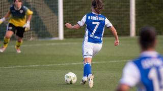 Nahikari, que marcó los dos goles de la victoria de la Real Sociedad, fue la protagonista del partido.