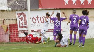 Uno de los dos goles que marcó el F. Albacete ante el Granadilla Egatesa.