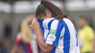 Cristina Martín-Prieto se lamenta tras una ocasión fallida.
