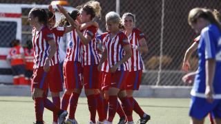 El At. Madrid Femenino se impuso al UD Tacuense con contundencia, 0-7.