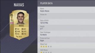 2 - Keylor Navas (Real Madrid). El costarricense, que comparte un 85 de valoración con Ter Stegen, destaca por su potente estirada y sus excelentes reflejos.