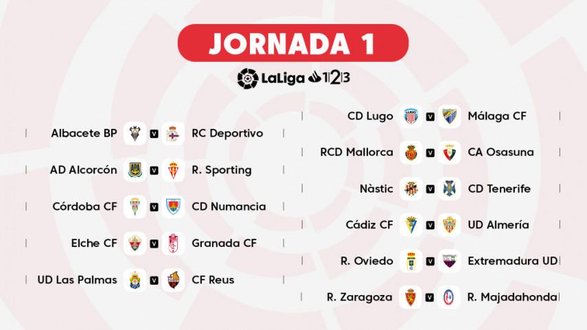 As Calendario Liga 123.The Fixtures For Laliga 1 2 3 2018 19 Liga De Futbol
