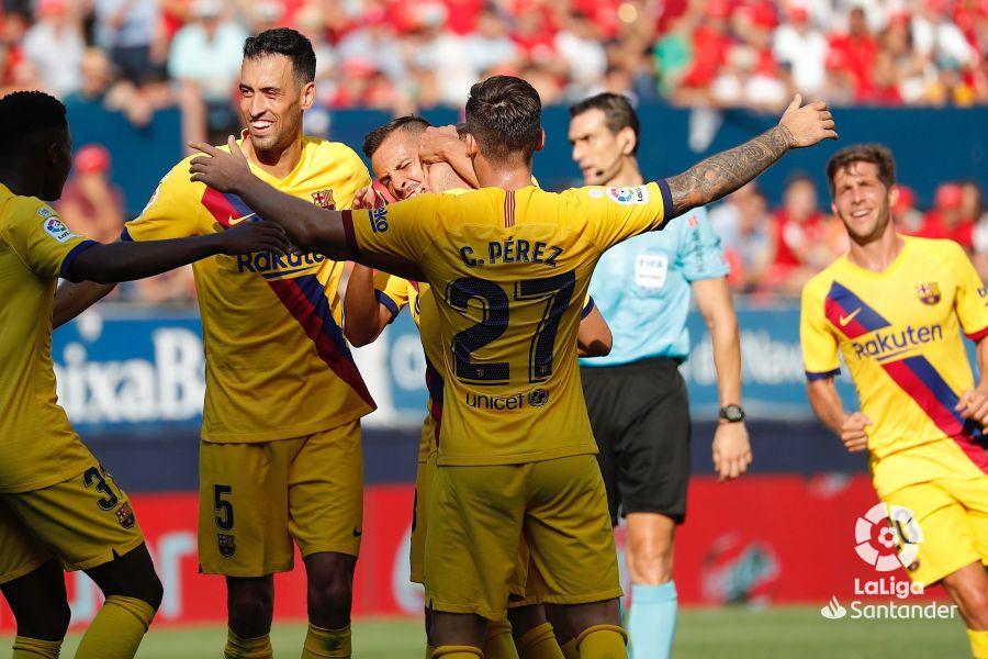 صور مباراة : أوساسونا - برشلونة 2-2 ( 31-08-2019 )  Bffe7d6efab46f3de67641fe3ec25f58